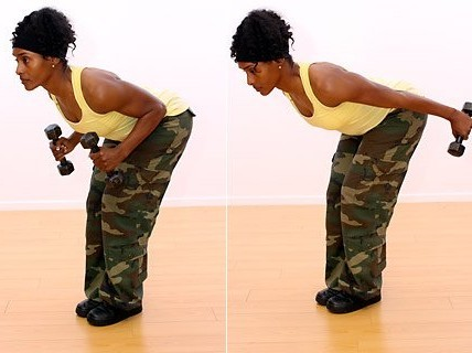 俯立臂屈伸强化肱三头肌