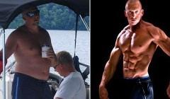 译文:40岁胖人减肥27KG变成肌肉型男
