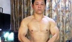 继46岁健身成果,续发健身视频.