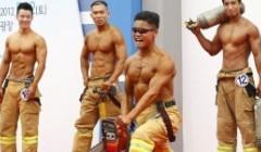 2012年韩国消防员健美大赛
