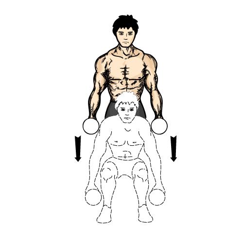 哑铃深蹲-下身肌肉锻炼动作的不二选择