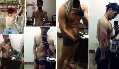18个月健身增加体重36斤
