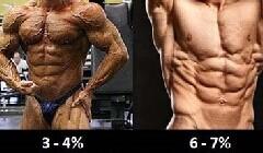 体脂率对照图 理想体脂率参考