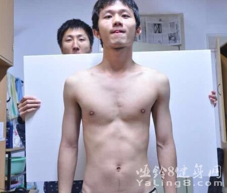 看我一年健身增重前