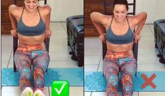 背后靠凳臂屈伸动作要领与运动示意图